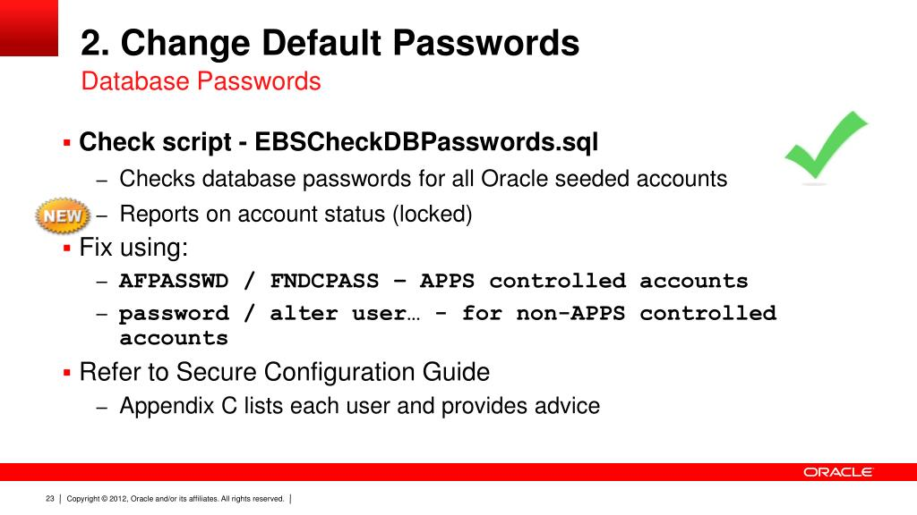 PPT - The Top 10 (Free) Things You Can Do to Secure Your Oracle E