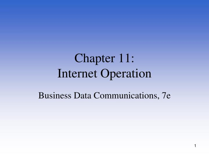 chapter 11 internet operation n.
