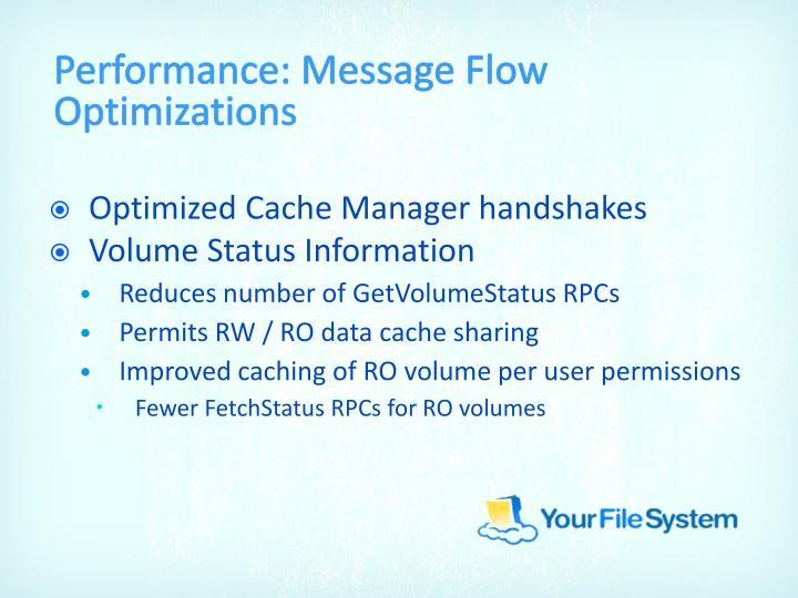 Performance: Message Flow Optimizations