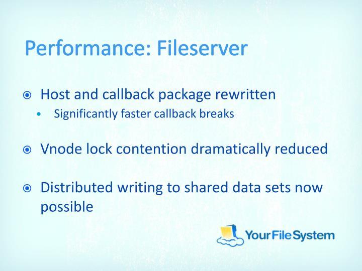 Performance: Fileserver