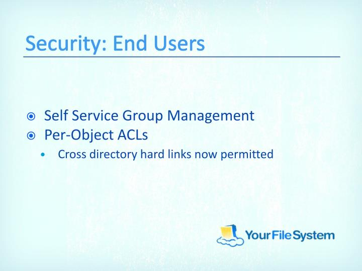 Security: End Users