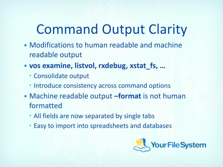 Command Output Clarity