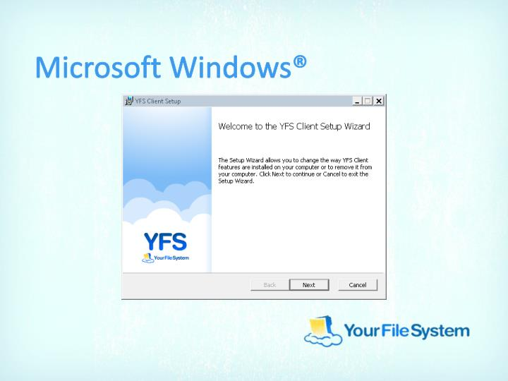 Microsoft Windows®
