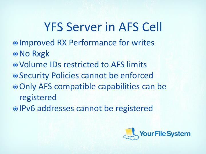 YFS Server in AFS Cell