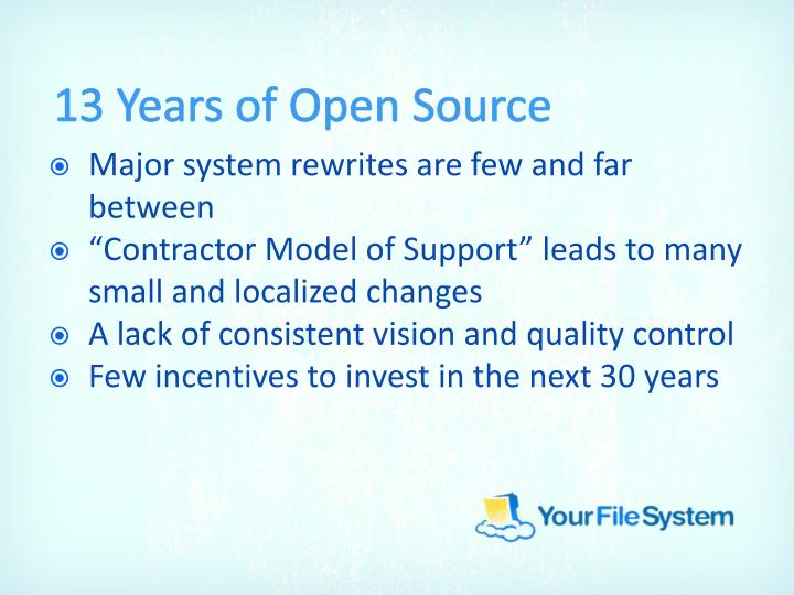13 Years of Open Source
