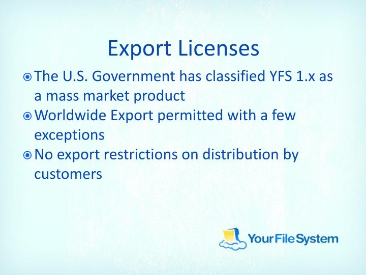 Export Licenses
