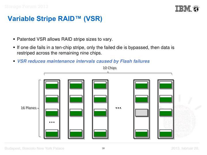 Variable Stripe RAID™ (VSR)