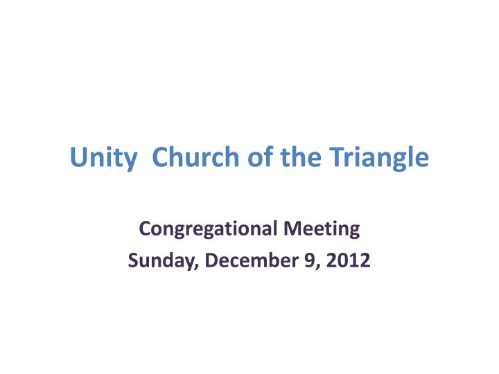 unity church of the triangle n.