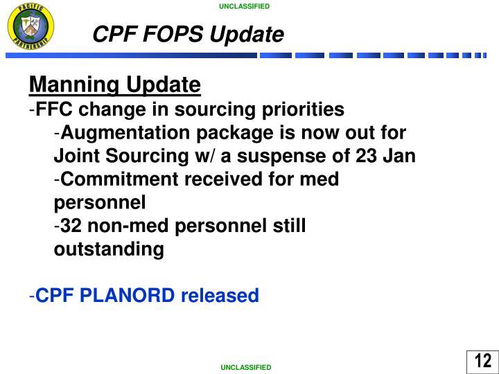 CPF FOPS Update