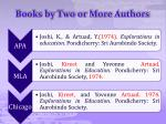 books by two or more authors
