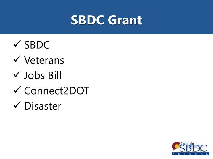 SBDC Grant