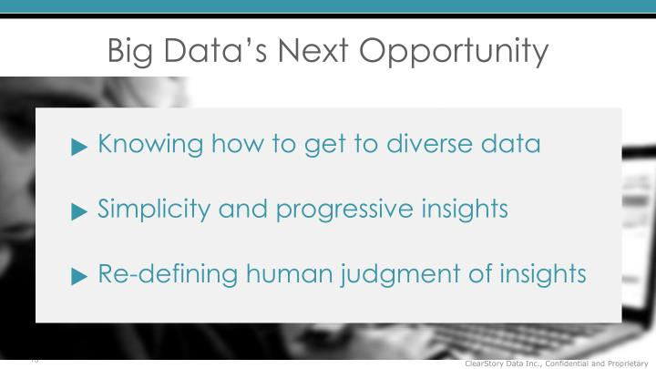 Big Data's Next Opportunity