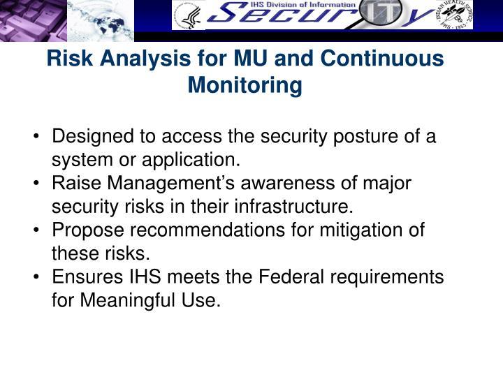 Risk Analysis for
