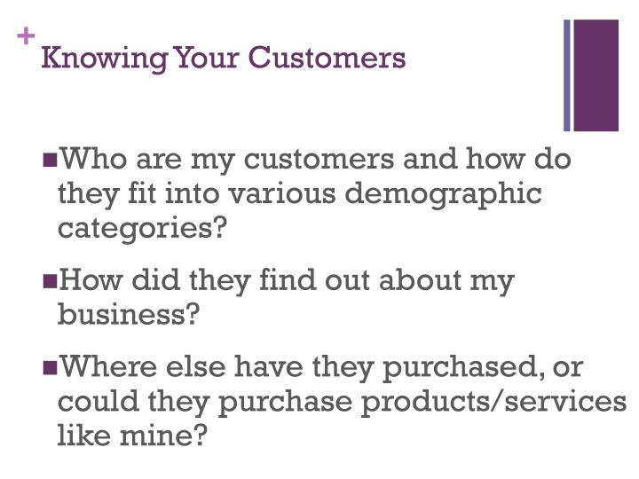 Knowing Your Customers