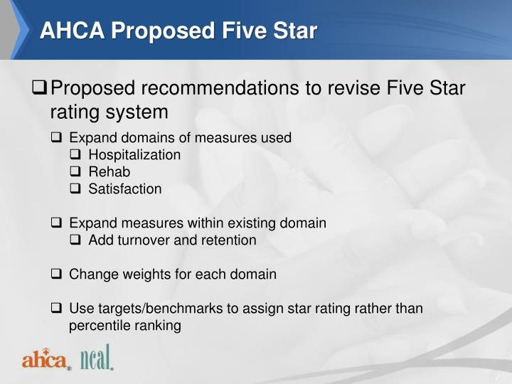AHCA Proposed Five Star