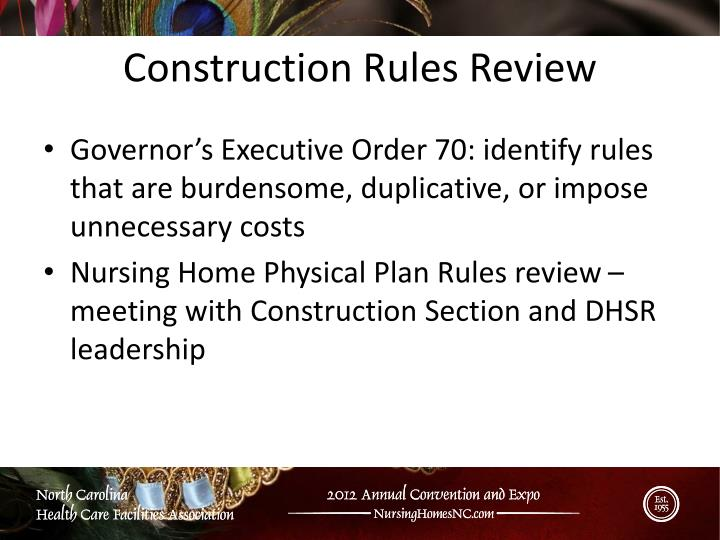 Construction Rules Review