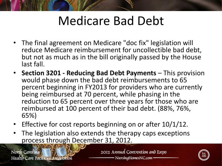 Medicare Bad Debt