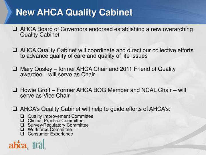 New AHCA Quality Cabinet