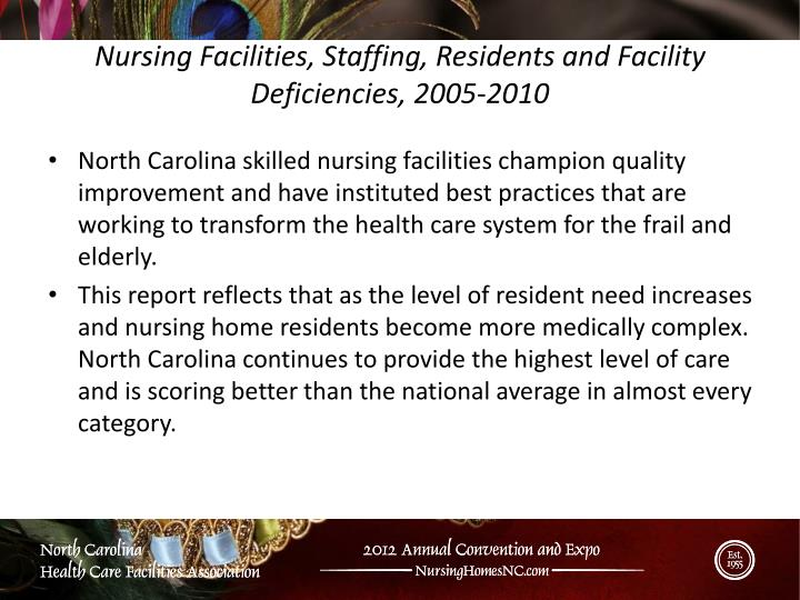Nursing Facilities, Staffing, Residents and Facility Deficiencies, 2005-2010