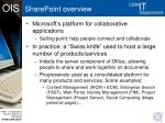 sharepoint overview