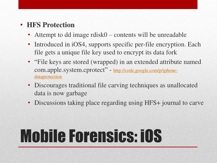 HFS Protection