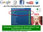 are the starting point for academic research