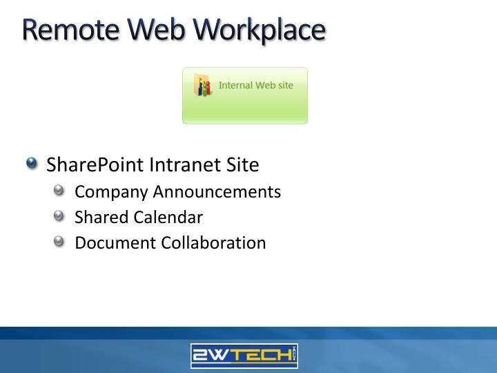 Remote Web Workplace