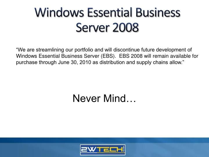 Windows Essential Business