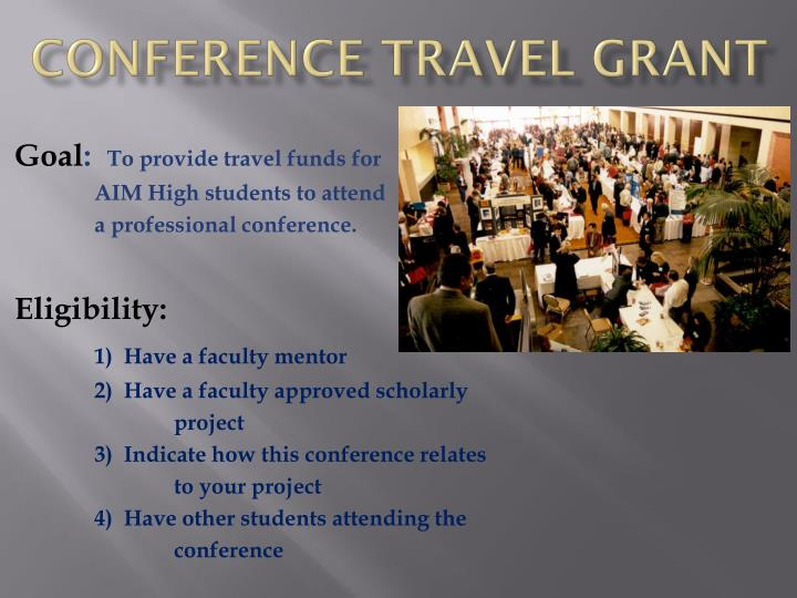 Conference travel grant