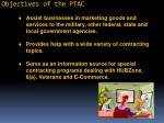 objectives of the ptac