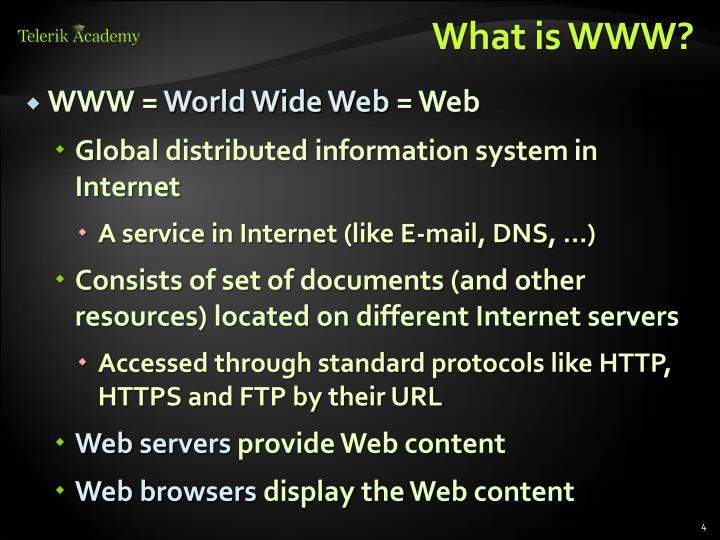 What is WWW?