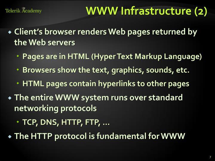 WWW Infrastructure (2)