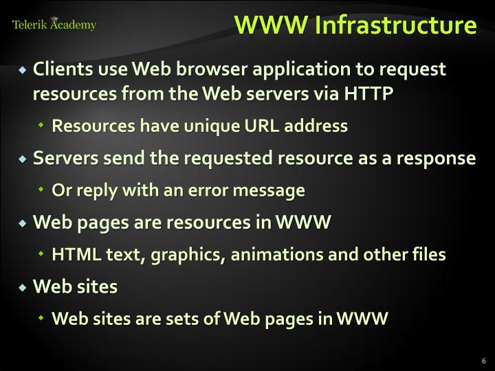 WWW Infrastructure