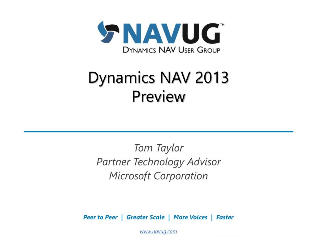 PPT - Dynamics NAV 2013 Preview PowerPoint Presentation - ID:1692087