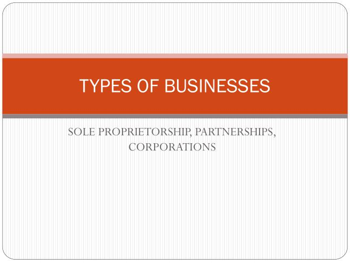 types of businesses n.