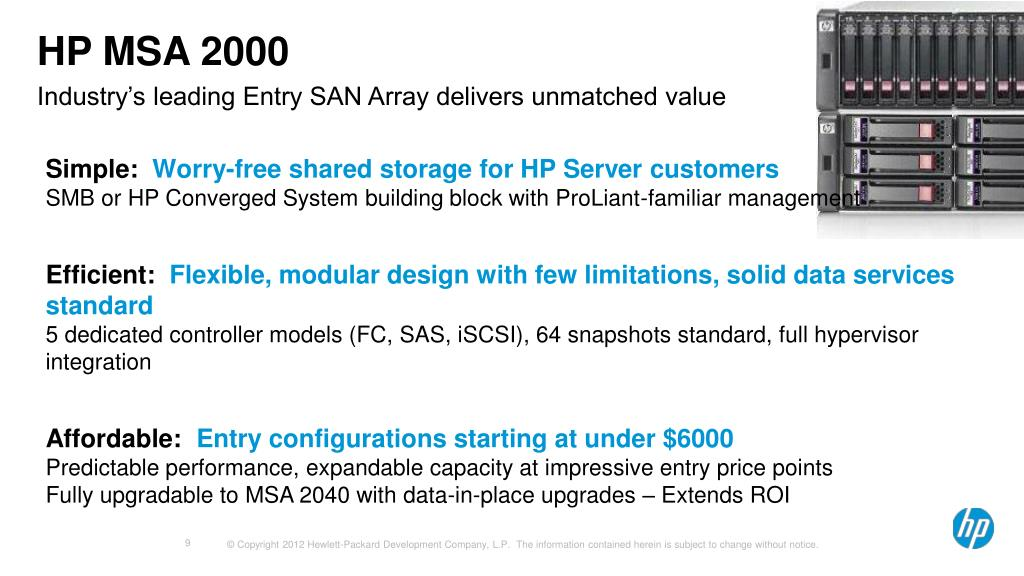PPT - Introducing HP's MSA 2040 Storage Redefining Entry