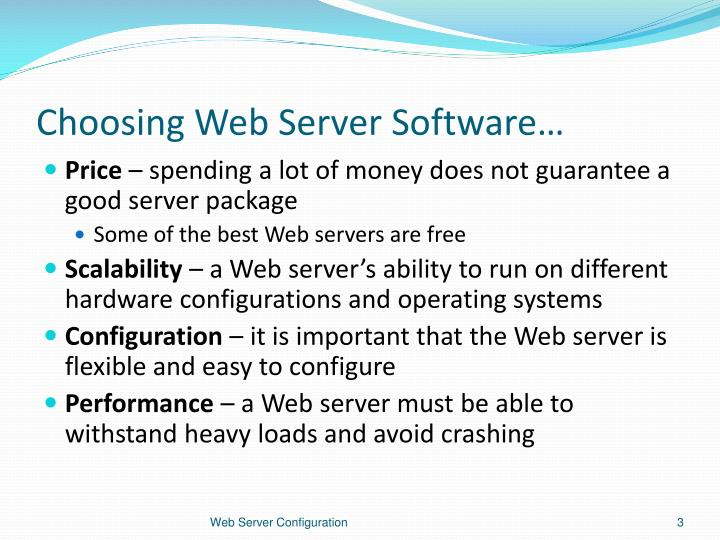 Choosing web server software1