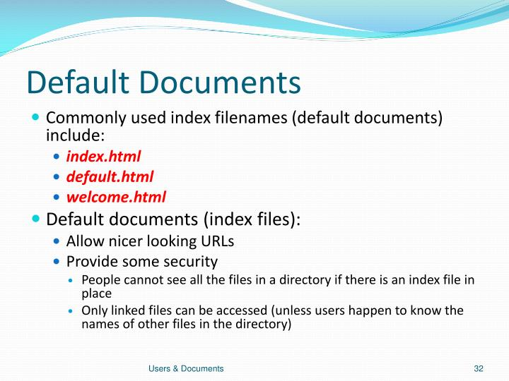 Default Documents