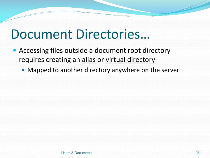 Document Directories…