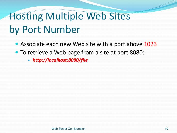 Hosting Multiple Web Sites