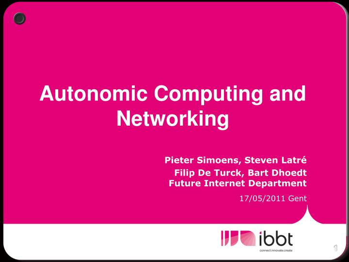 autonomic computing and networking n.