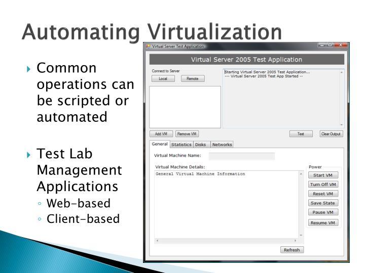Automating Virtualization