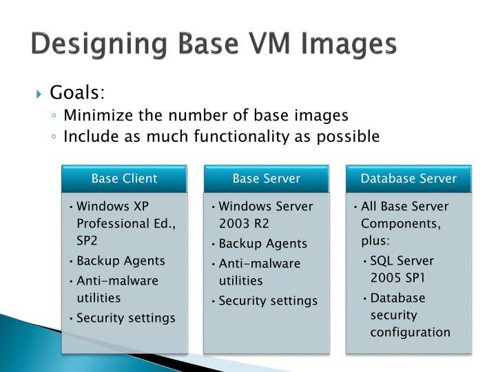 Designing Base VM Images