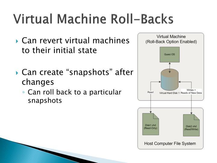 Virtual Machine Roll-Backs