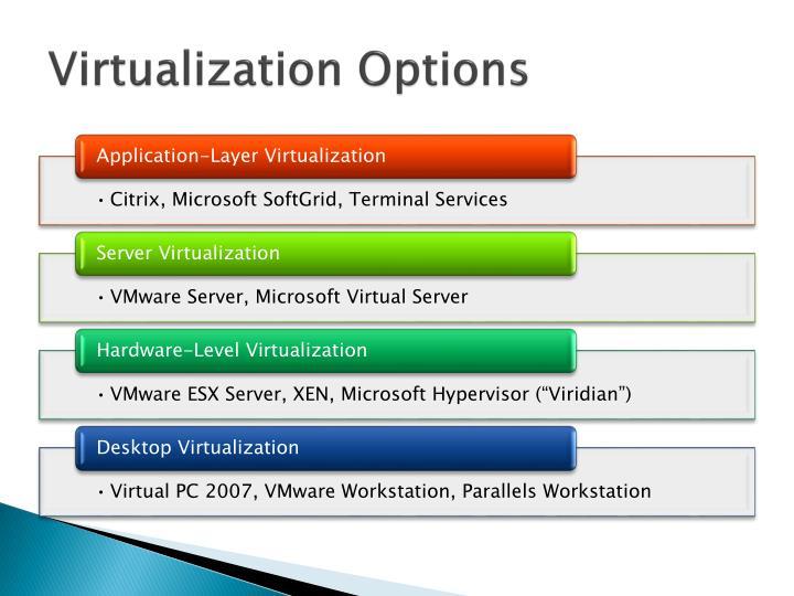 Virtualization Options