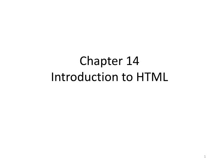 chapter 14 introduction to html n.