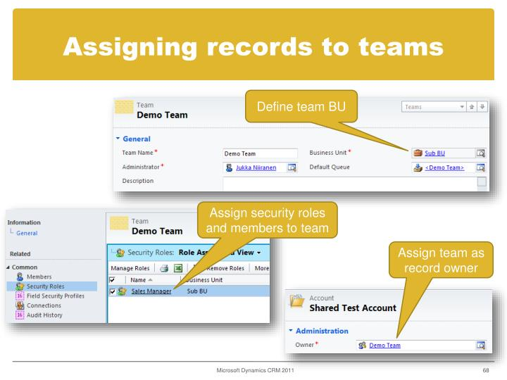 Assigning records to teams