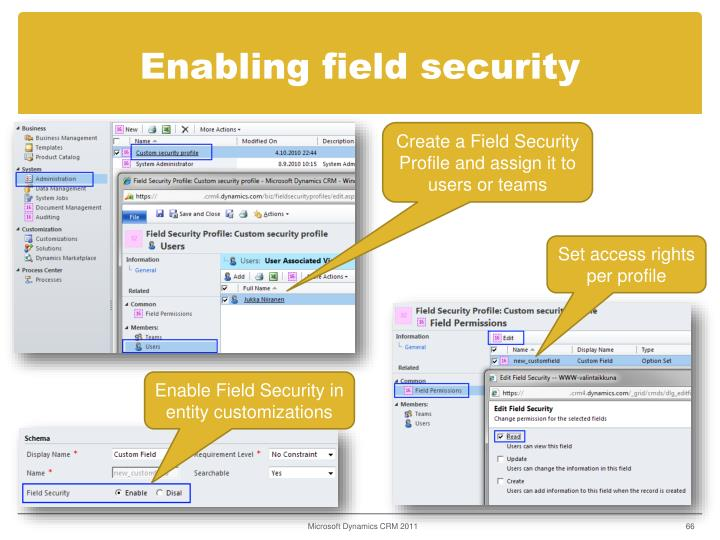 Enabling field security