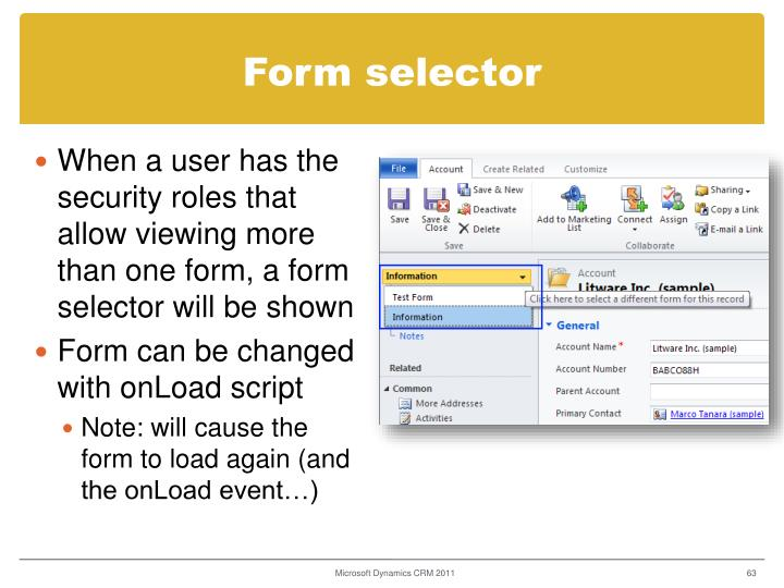 Form selector