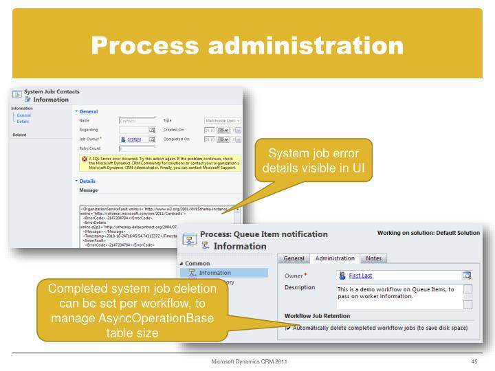 Process administration